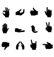 Flat hands icon set vector image vector image