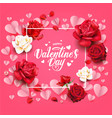floral valentines day vector image vector image