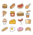 food doodle icon vector image vector image
