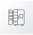 fridge icon line symbol premium quality isolated vector image vector image