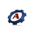 gear logo letter a vector image