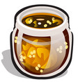 glass transparent jar with jam made of physalis vector image vector image