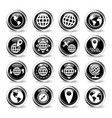 globes icon set vector image