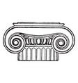 greek capital ionic vintage engraving vector image vector image