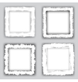 grungy frames vector image vector image