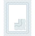 guilloche border vector image