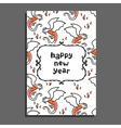 Happy new year greeting card with basilisk and vector image vector image