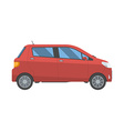 Hatchback new red family car isolated on white vector image vector image