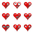 heart collection emoticons emoji love symbol vector image vector image