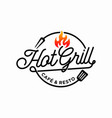hot grill logo design template vector image