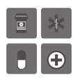 icon set Medical and Health care design vector image vector image