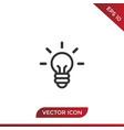 idea icon light bulb vector image