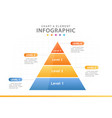 infographic 4 steps pyramid chart diagram template vector image vector image