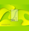 liquid abstract yellow and green background vector image vector image