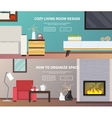 Living Room Furniture Banner vector image vector image