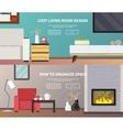 Living Room Furniture Banner vector image vector image