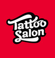 logo tattoo salon image vector image