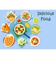 Mediterranean cuisine lunch icon for food design vector image vector image