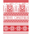 Merry Christmas Tall xmas pattern with gingerbread vector image vector image