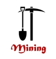 Mining emblem or badge vector image