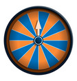 orange blue wheel fortune icon cartoon style vector image vector image