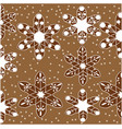 pattern of gingerbread as snowflakes vector image