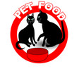 pet food signboard or product label with two vector image vector image