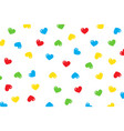 red blue green yellow little hearts falling vector image