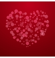 Red Valentine holiday background with hearts vector image vector image