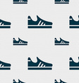 Running shoe icon sign Seamless pattern with vector image vector image