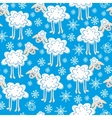 seamless pattern cute christmas sheep vector image vector image