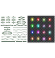 set christmas lights isolated on transparent vector image vector image
