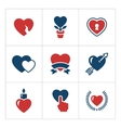 Set color icons of heart vector image vector image