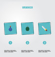 set of game icons flat style symbols with grenade vector image vector image