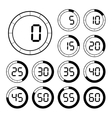 Set of icons stopwatch vector image