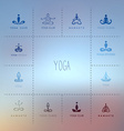 Set of logos for a yoga studio vector image vector image