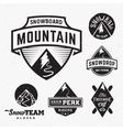 Set of Ski Snowboard Snow Mountains Sport Logos or vector image