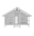sketch small house rendering 3d vector image