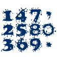 splash numbers vector image vector image