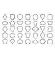 stock set badges contour vector image