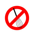 stop corolla kitchen utensils do not beat red vector image