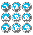 Swoosh Number Logo Icons vector image