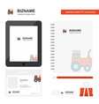 tractor business logo tab app diary pvc employee vector image vector image