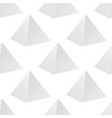 white pyramid mockup 3d template seamless vector image