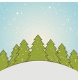 winter season landscape vector image