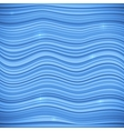 Blue waves sea background vector image