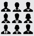 woman and man head silhouettes anonymous person vector image