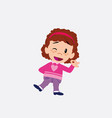 white girl with sweater doing the ok sign with vector image