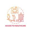 access to healthcare concept icon vector image vector image