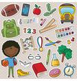 African-American school boy vector image vector image